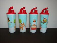 Tupperware Holiday Flurry Winter Christmas Reindeer 16oz Tumblers & Seals New