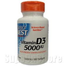 Doctor's Best - Vitamin D3 - 5000 IU - 180 Softgels