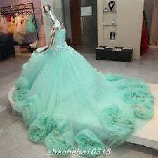 Elegant Off Shoulder Ball Gown Prom Dress Quinceanera Dresses Lace Up Puffy Gown