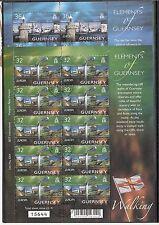 CEPT, Europa Guernsey 2004, Mi 1002/1003 im Kleinbogen gestempelt KW 23,00€