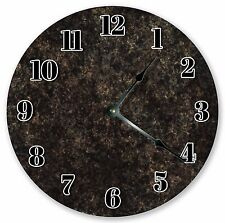 "10.5"" BLACK RUSTIC MARBLED CLOCK - Large 10.5"" Wall Clock  Home Décor Clock 3191"