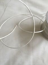 5Mts White Paper covered Flower Stem Wire Wedding Bridal Floral Craft Tourbillon