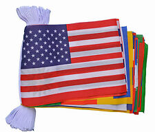 WORLD CUP 10 METRE BUNTING 32 FLAGS flag ENGLAND BRAZIL GERMANY SPAIN ITALY