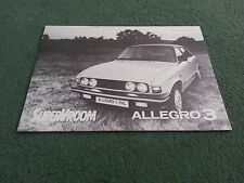 Sept 1979 1980 Austin ALLEGRO 3 - 1.1 1.3 1.5 1.7 - UK BROCHURE Publication 3454