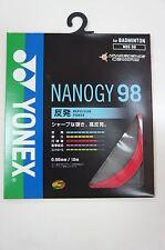 5 pkts YONEX Badminton Nanogy 98 NBG-98 String, JP Version (Paper Case), RED