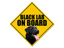 7x7 inch BLACK LAB On Board Sticker -decal dog breed pup love labrador retriever