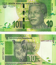 2012 South Africa 10 Rand Uncirculated (Nelson Mandela) note