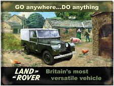 Land Rover Mark 1, Farm, Classic Off Road 4x4 Car, Large Metal/Tin Sign Picture