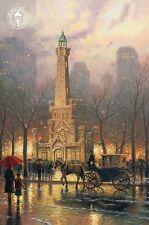 Old Water Tower, Chicago - Horse Carriage etc. - Thomas Kinkade Dealer Postcard