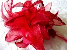 Hair Band Brooch pin/Fascinator-Flower for Wedding/Party with feathers& glittery