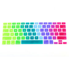 "Rainbow Silicone Keyboard Case Skin Cover For Macbook Pro 13"" iMac Retina"