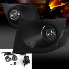 Fits Nissan 07-11 Versa Crystal Clear Front Bumper Fog Lights Kit+Switch