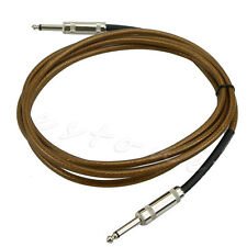 3m Guitar Cable Amplifier Amp Instrument Lead Cord 10ft Electric Brown New