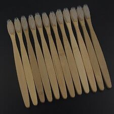 12PCS/lot Dr.Perfect Bamboo Toothbrush Oral Care  Super Soft White Bristles