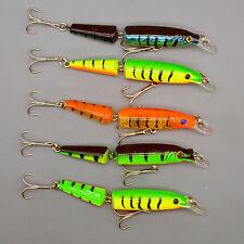 New Lot 5pcs Jointed Swimbaits Bass Fishing Lures 10.5cm/9.6g Crankbaits Tackles