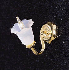 Dollhouse Electric Cir-Kit  Miniatures Canted Tulip Shade Wall Sconce # CK4004