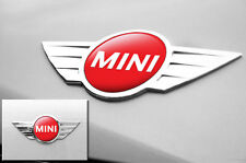 "Mini Cooper 1.75"" Inch Logo Emblems Decals x2 Vinyl Stickers for Badges RED"