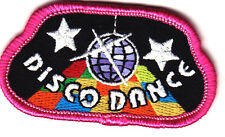 """DISCO DANCE"" - MUSIC - DANCING - JAZZ -  DANCER - IRON ON EMBROIDERED PATCH"