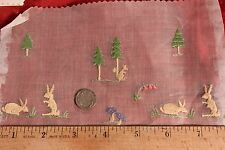 Collection Of  7 Children's Antique Swiss Embroideries c.1920~Dolls,Clothing~