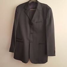 Soprani Men Gray Suite 100% Wool Made in Italy Size 48 EU