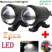 U1 LED Motorcycle Light Headlight Driving Fog Spot Lamp+Switch For BMW