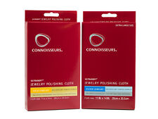 2pc Connoisseurs UltraSoft Gold and Silver Jewelry Polishing Cloth Set - Cleaner