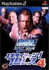 Used PS2 WWE Smack Down! 4: Shut your mouth   Japan Import (Free Shipping)