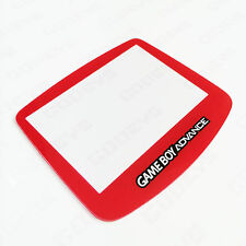 RED Colour Nintendo Game Boy Advance GBA New Replacement Screen Cover Plastic