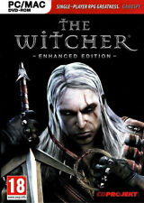 The Witcher Enhanced Edition (PC) (Mac) DVD-ROM XP/ Vista/ win7, 8.1, 10