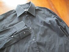 Dolce & Gabbana Sz 17-37 Black Buttion Down Mens Dress Shirt EUC Made in Italy