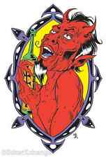 Drinking Devil Sticker Decal Poster Artist Forbes AF40