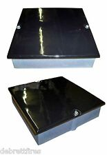 Enamel Gloss Black 9 x 6 Soot Door Box Chimney Flue Cast Iron Fire Stove 23x15cm