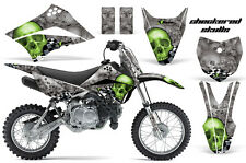 KLX110 Kawasaki Graphic Kit AMR Racing Bike Decal Sticker Kawi Part 10-13 SKULL
