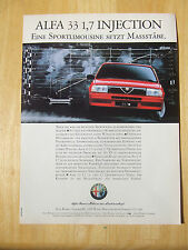 ALFA ROMEO 33 1.7 I CLOVERLEAF GERMAN POSTER ADVERT READY TO FRAME A4 SIZE