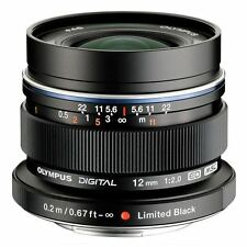 Olympus M.ZUIKO DIGITAL ED 12mm f/2.0 Lens Black UU