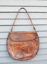 LEATHER Handmade PURSE Unique Artistic Women's Handbag Collectible Old West Prop