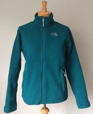 The North Face Womens Small Turquoise Green Fleece Jacket Zip Front