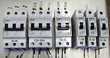 Siemens Lot of 6 Circuit Breakers 5SX23(1)  5SX22(1)  5SX21(3ea)  Used T/O