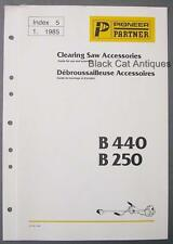 Original 1985 Pioneer Partner Clearing Saw Accessories Brochure B440 & B250