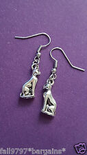 NEW - BAST,BASTET EGYPTIAN CAT EARRINGS Front Facing 3D DESIGN SIMPLY UNIQUE