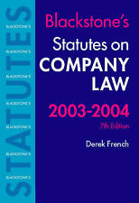 STATUTES ON COMPANY LAW (BLACKSTONE'S STATUTES S.), DEREK FRENCH (EDITOR), Used;