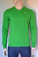 NEW Abercrombie & Fitch Lake Road V-Neck Sweater Cashmere Jumper Green XL