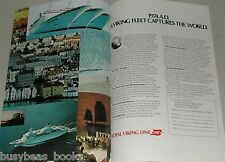 1973 Royal Viking Line 2 page advertisement, cruise ships