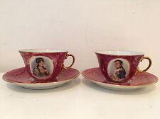 2 Tasses à Café Thé Chocolat Napoléon Et Joséphine Limoges B&Cie Bernardaud
