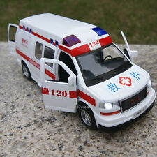 GMC commercial star 1:32 Alloy Diecast Car Model Sound&Light 120 Ambulance RV