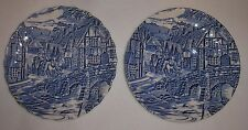 The Post House by Alfred Meakin 2 Plates Saucers D=14cm. Good condition.