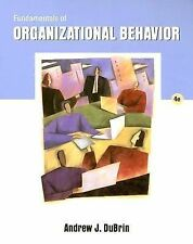 Fundamentals of Organizational Behavior (with InfoTrac) by DuBrin, Andrew J.