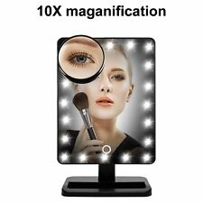 10 x Vergrößernd Touch LED Licht Make Up Kosmetik Tisch hollywood Spiegel