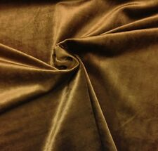 "P KAUFMANN RADIANT VELVET CHOCOLATE BROWN UPHOLSTERY FABRIC BY THE YARD 55""W"