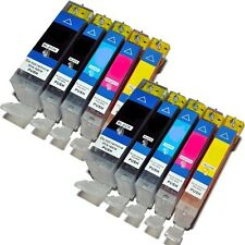 10 x Canon Compatible CHIPPED Inks PGI-525 & CLI-526